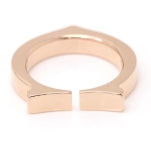 Cartier 18K Pink Gold C Flat Ring Size 4.5