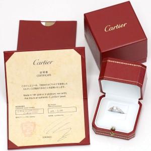 Cartier Ballerine Platinum with 0.50ct Diamond Ring Size 7