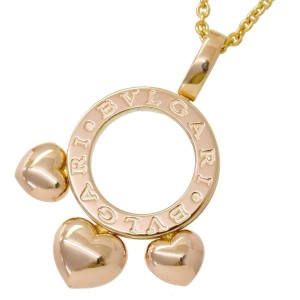 Bulgari 18K Pink Gold Allegra Heart Necklace