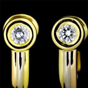 Cartier 18K Yellow, White & Pink Gold Diamond Mono Storn Earrings