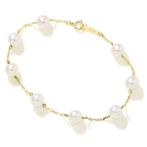 Mikimoto 18K Yellow Gold with Akoya Cultured Pearl Bracelet