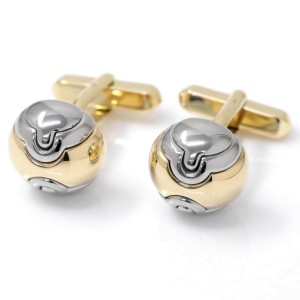 Bulgari Parentesi 18K White & Yellow Gold Stainless Steel Cufflinks