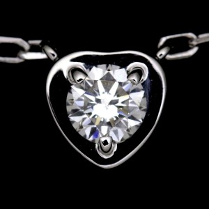 Cartier 18K White Gold with 0.13ct Diamond Heart Necklace