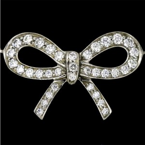 Tiffany & Co. Platinum and Diamond Bow Bracelet