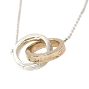 Tiffany & Co. 18K Rose Gold and Sterling Silver 1837 Interlocking Pendant Necklace