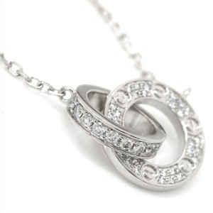 Cartier Love 18K White Gold with 0.30ct Diamond Necklace