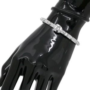 Louis Vuitton 18K White Gold Bangle Bracelet Size 16