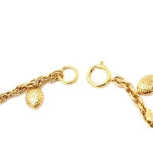 Chanel Vintage Gold Tone Hardware CoCo Mark Pendant Necklace