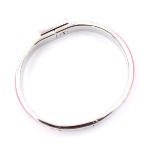 Hermes Silver Tone Hardware and Enamel PM Bangle Bracelet