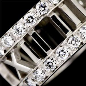Tiffany & Co. Atlas 18K White Gold with Diamond Earrings