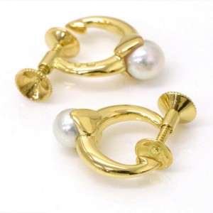Mikimoto Perlita 18K Yellow Gold with Akoya Pearl Earrings