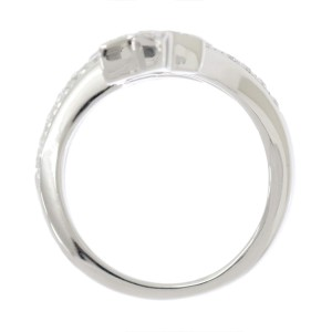 Chanel Comete 18K White Gold with Diamond Ring Size 6