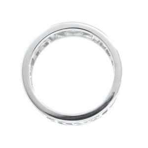 Chanel 18K White Gold Camella Ring Size 3.5