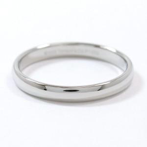 Tiffany & Co. 950 Platinum Classic Band Ring Size 10