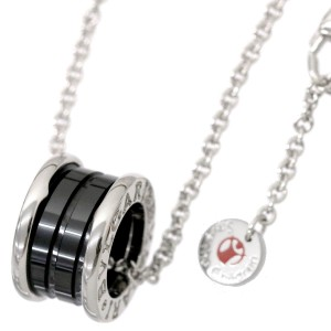 Bulgari B-Zero 1 925 Sterling Silver & Black Ceramic Save The Children Necklace