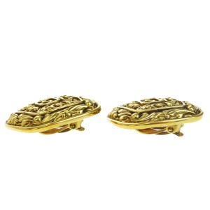 Chanel CC Logo Gold Tone Hardware Clip-On Earrings