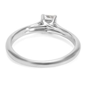 Tiffany & Co. Lucida PT950 Platinum with 0.32ctw Diamond Engagement Ring Size 4.75