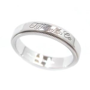 Tiffany & Co. 950 Platinum Notes Milgrain Band Ring Size 6.75