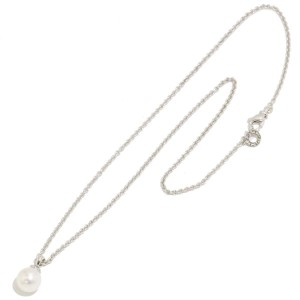 Bulgari 18K White Gold Akoya Pearl & Diamond Necklace