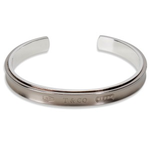 Tiffany & Co. 1837 Galaxy 925 Sterling Silver and Titanium Cuff Bangle Bracelet