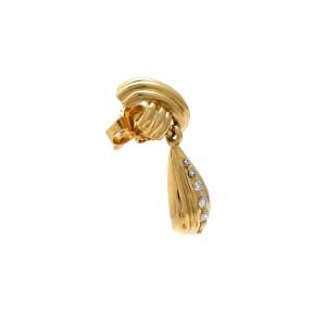 Tiffany & Co. 18K Yellow Gold X Drop Diamond Earrings