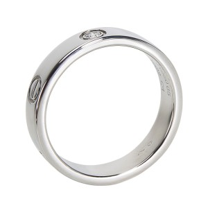 Cartier Love PT950 Platinum with 0.07ct Diamond Ring Size 11