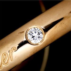 Cartier Trinity Ring 18k Yellow White Rose Gold Diamond Size 8 75