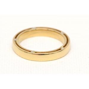 Damiani 750 Yellow Gold with Diamond Ring Size 4.5