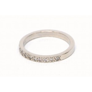 Tiffany & Co. PT950 Platinum with Diamond Half Eternity Band Ring