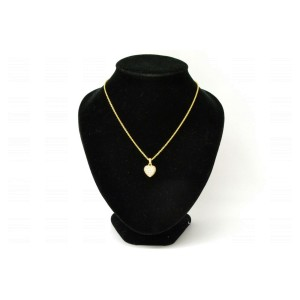 Cartier Heart Pave Chain Pendant Necklace 750 Yellow Gold With Diamond