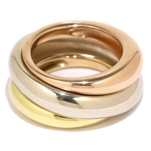 Cartier Trinity Ring 18K Yellow, White, Rose Gold Size 5.25