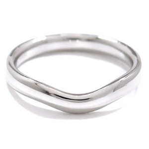 Tiffany & Co. Platinum Wide Curved Ring Size 7