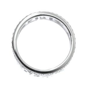 Chanel Camelia 18K White Gold Diamond Ring Size 4