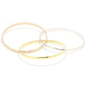 Cartier Trinity Bangle 18k Yellow White Rose Gold