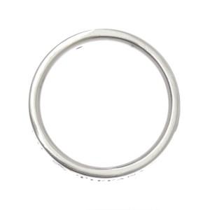 Tiffany & Co. Flat Band Platinum Diamond Ring Size 4.5