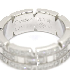 Cartier Tank Francaise Ring 18K White Gold with Diamond Size 4