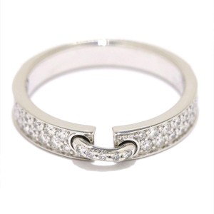 Chaumet Liens 18K White Gold Diamond Ring Size 5
