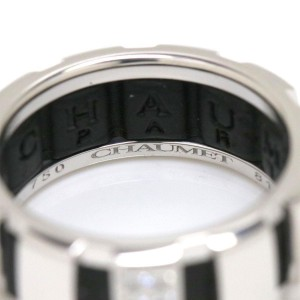 Chaumet Class 18K White Gold Diamond Ring Size 5.5