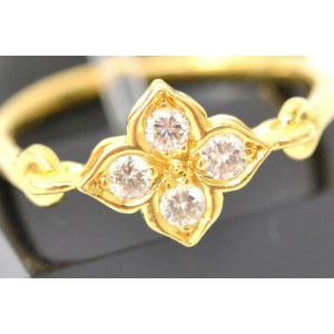 Cartier Hindu Ring 18K Yellow Gold with Diamond Size 5