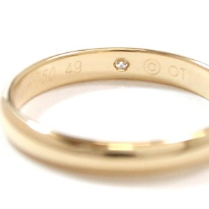 Cartier Classic Ring 18K Yellow Gold 0.01ct Diamond Size 4.75
