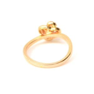 Vendome Aoyama 18K Rose Gold with Diamond Band Ring Size 3