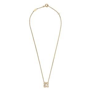 Van Cleef & Arpels 18K Yellow Gold Trefle Diamond Pendant Necklace