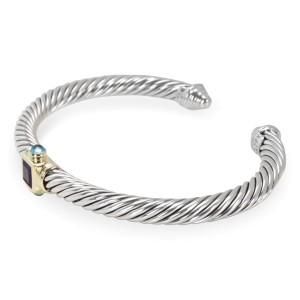 David Yurman Renaissance Sterling Silver 14K Yellow Gold Amethyst Topaz Bracelet