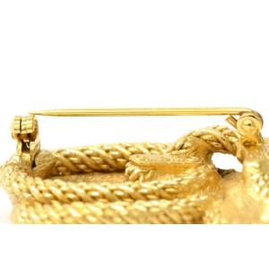 Christian Dior Vintage Gold Tone Hardware with Rhinestone Brooch