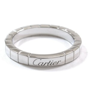 Cartier Lanieres Ring 18K White Gold Size 7.25