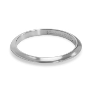 Tiffany & Co. Classic Platinum Ring Size 5.5