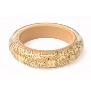 Louis Vuitton Plastic and Gold Tone Hardware Bangle Bracelet