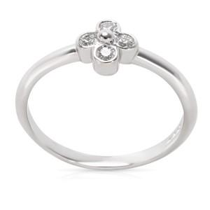 Tiffany & Co. Platinum Diamond Flower Ring Size 6