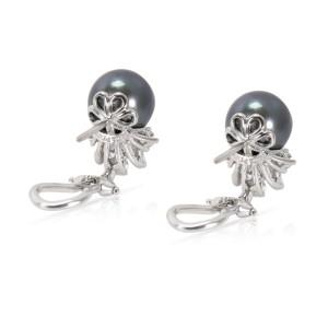 Tiffany & Co. Tahitian Platinum Cultured Pearl Diamond Earrings