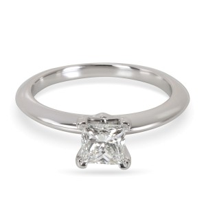 Tiffany & Co. Platinum Diamond Engagement Ring Size 4.5